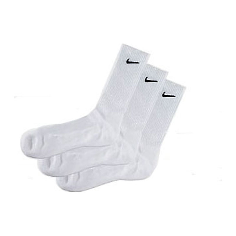 neu nike sportsocken 3er pack weiss socken jogging. Black Bedroom Furniture Sets. Home Design Ideas