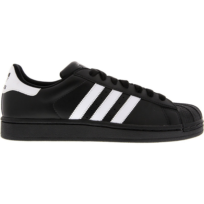 neu adidas superstar ii herren damen sneaker schwarz schuhe retro leder ebay. Black Bedroom Furniture Sets. Home Design Ideas
