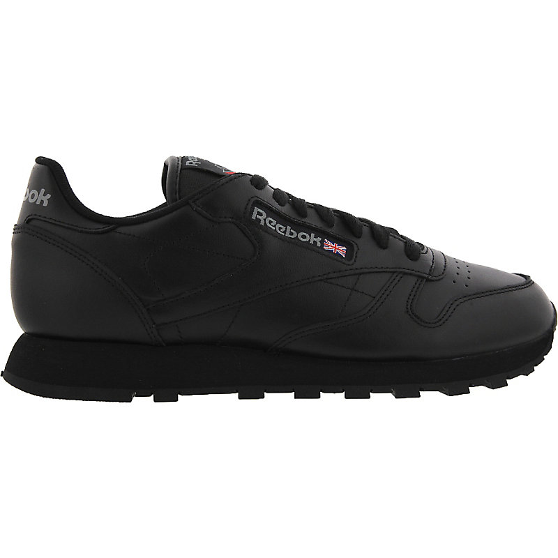 neu reebok classic leather herren sneaker schwarz ebay. Black Bedroom Furniture Sets. Home Design Ideas