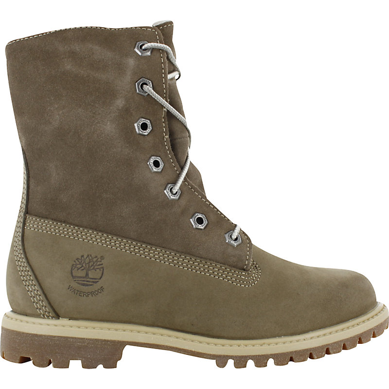 NEU-Timberland-Teddy-Fleece-Fold-Down-BRAUN-Damen-Sneaker-Boot