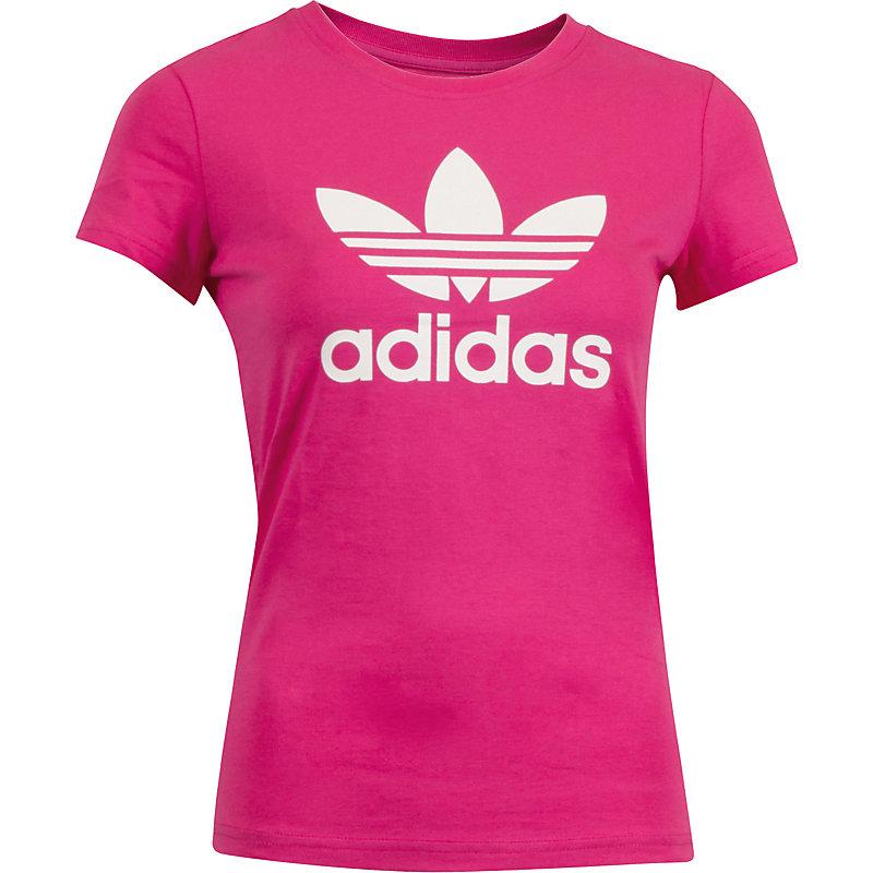 neu adidas tee trefoil t shirt pink damen ebay. Black Bedroom Furniture Sets. Home Design Ideas