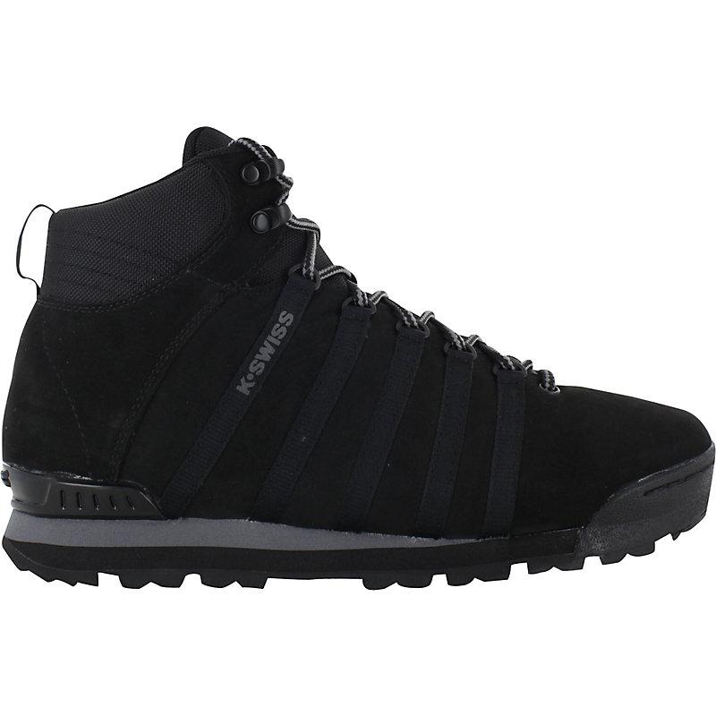 NEU-K-Swiss-Classic-Hiker-High-SCHWARZ-Herrenschuhe-Sneaker