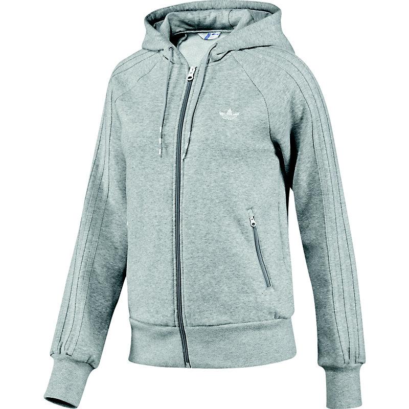 neu adidas casual zip hoodie grau herren kapuzenjacke ebay. Black Bedroom Furniture Sets. Home Design Ideas