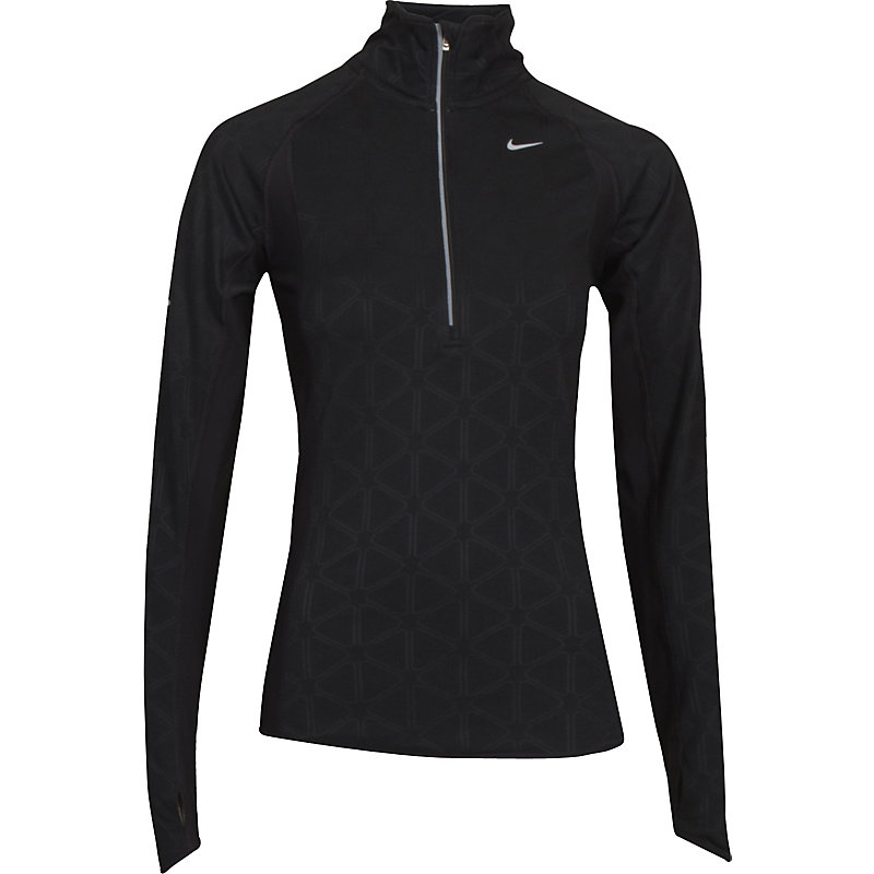NEU-Nike-Element-Thermal-Half-Zip-SCHWARZ-Damen-Joggingshirt