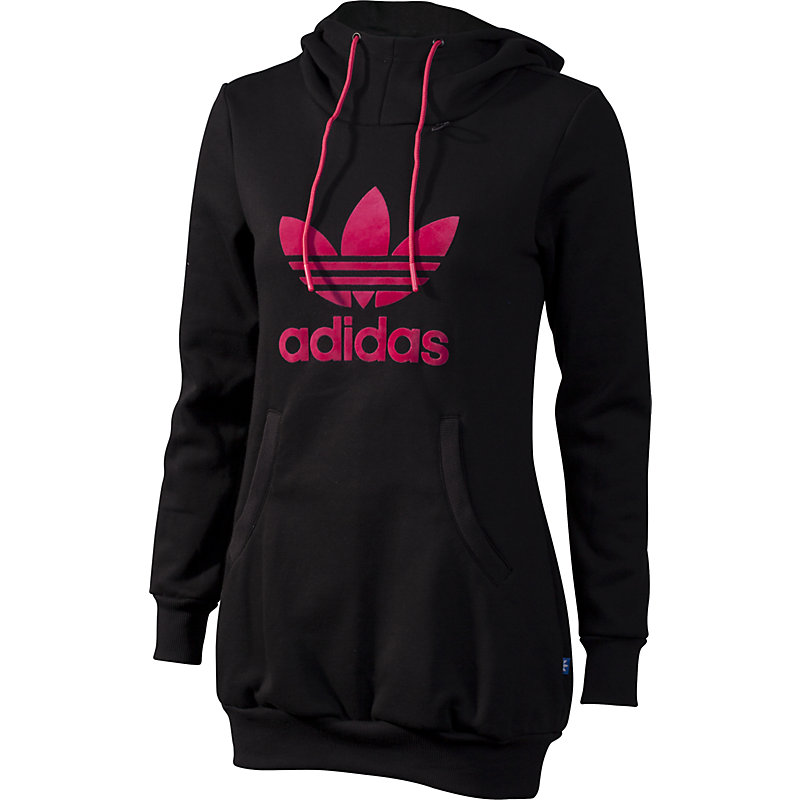 neu adidas long logo hoodie damen freizeitpullover ebay. Black Bedroom Furniture Sets. Home Design Ideas