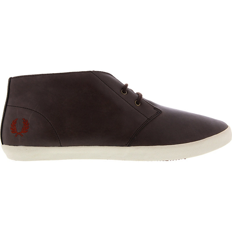 NEU-Fred-Perry-Byron-Mid-Leather-Herrenschuhe-Sneaker