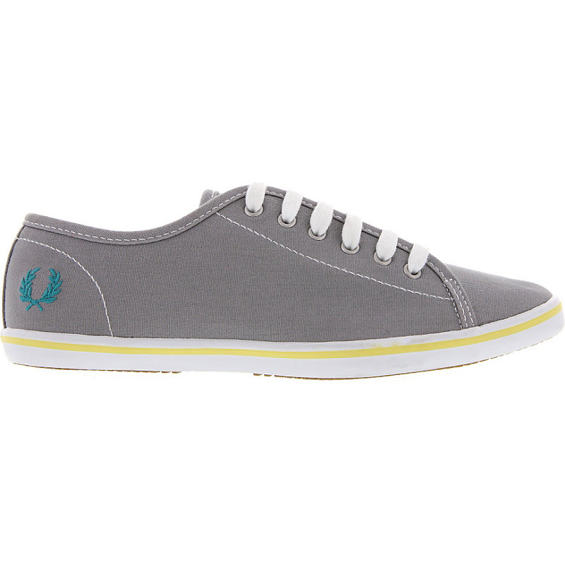 NEU-Fred-Perry-Phoenix-Canvas-Damenschuhe-Sneaker-Grau