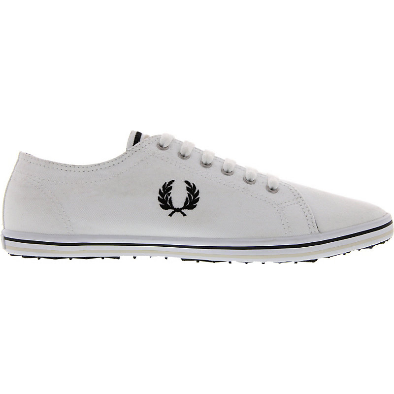 NEU-Fred-Perry-Kingston-Twill-Tipped-Herrenschuhe-Sneaker-Weiss