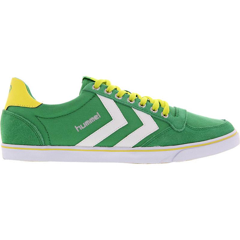NEU-Hummel-Slimmer-Stadil-Low-Herrenschuhe-Sneaker-Gruen