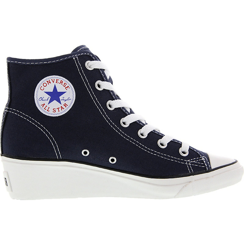 neu converse chuck taylor high ness damen sneaker absatz plateau chucks blau ebay. Black Bedroom Furniture Sets. Home Design Ideas