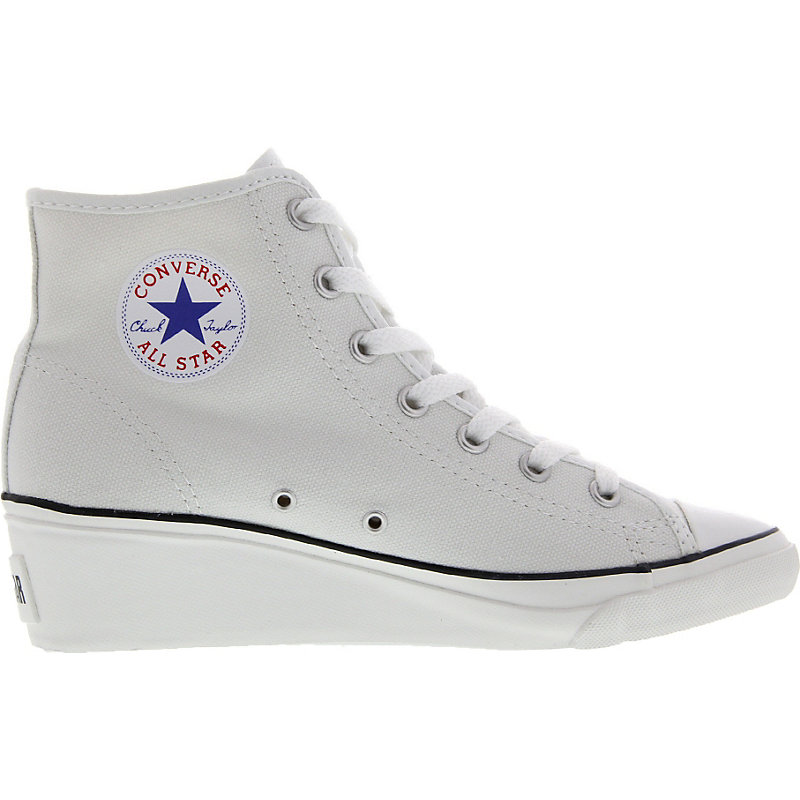 neu converse chuck taylor high ness damen sneaker chucks absatz plateau wei ebay. Black Bedroom Furniture Sets. Home Design Ideas
