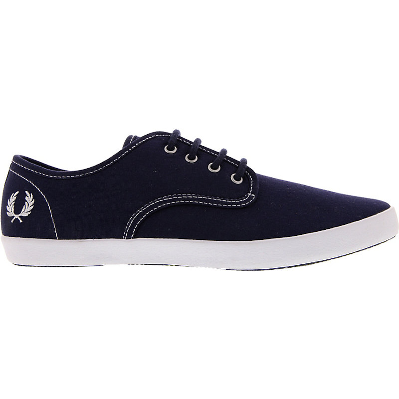 NEU-Fred-Perry-Foxx-Canvas-Herrenschuhe-Sneaker-Blau