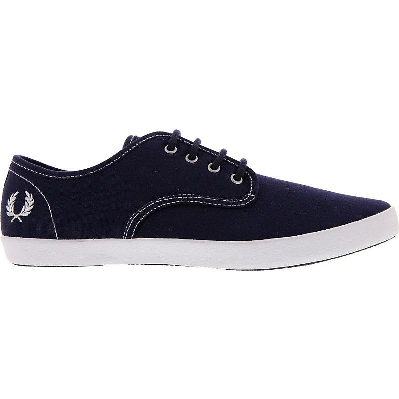 NEU-Fred-Perry-Foxx-Canvas-Herrenschuhe-Sneaker-Blau