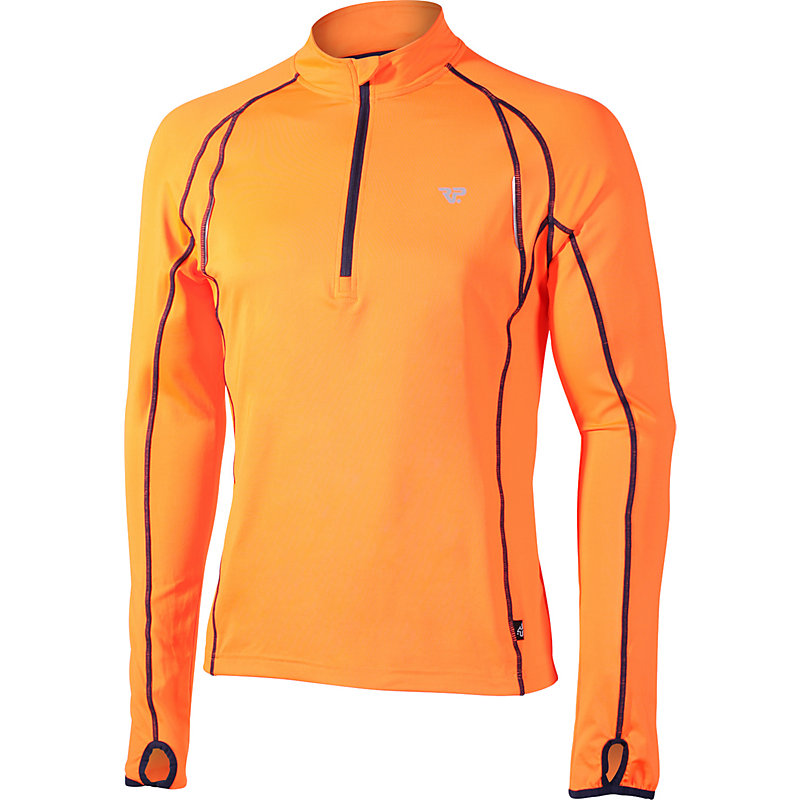 NEU-RP-1-2-Zip-Longsleeve-Herren-Joggingshirt-langarm-Orange