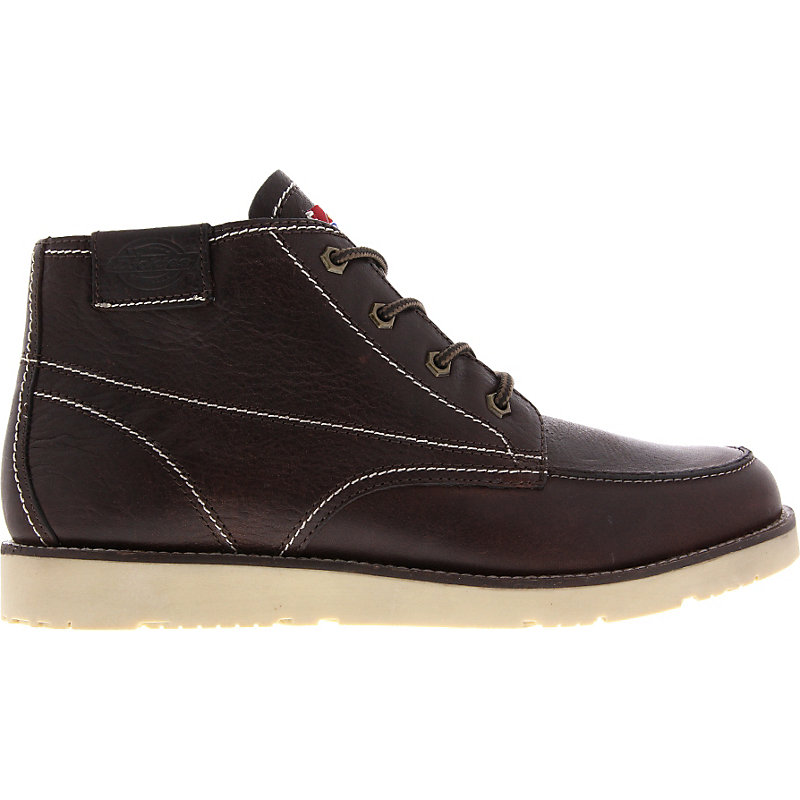 NEU-Dickies-Grain-Herrenschuhe-Sneaker-High-Braun-Leder-Boot-Winter-warm