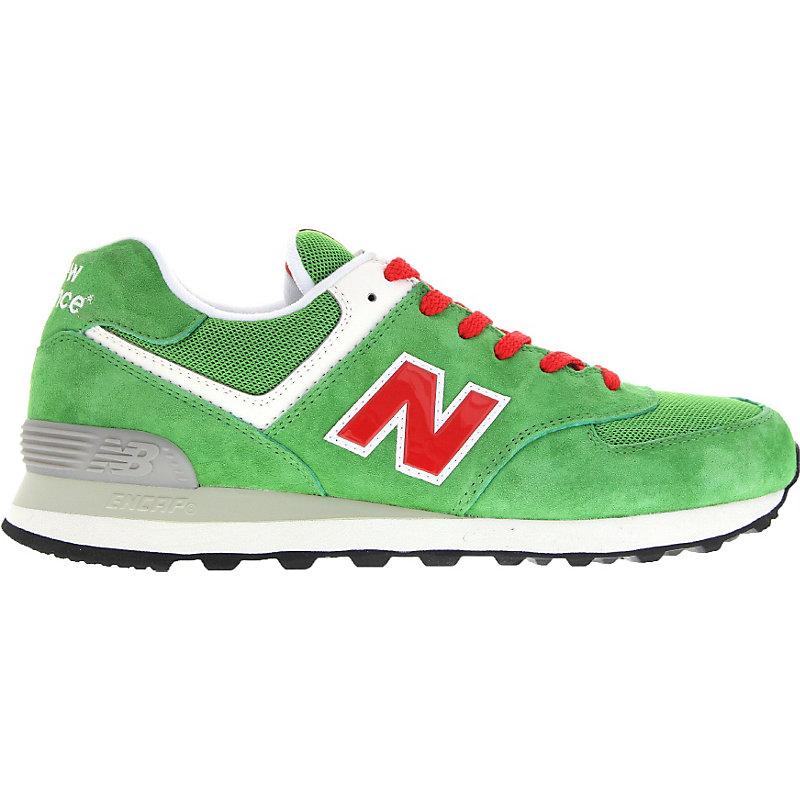 NEU-new-balance-574-Herrenschuhe-Sneaker-Gruen