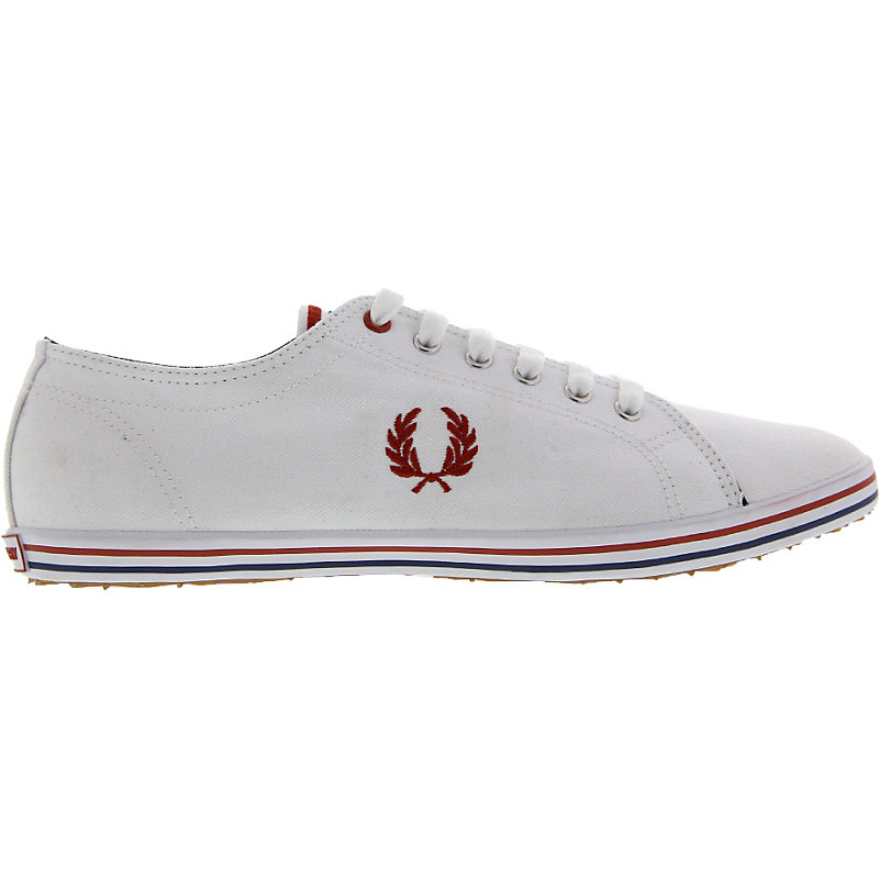 NEU-Fred-Perry-Kingston-Twill-Tipped-Herren-Sneaker-Weiss