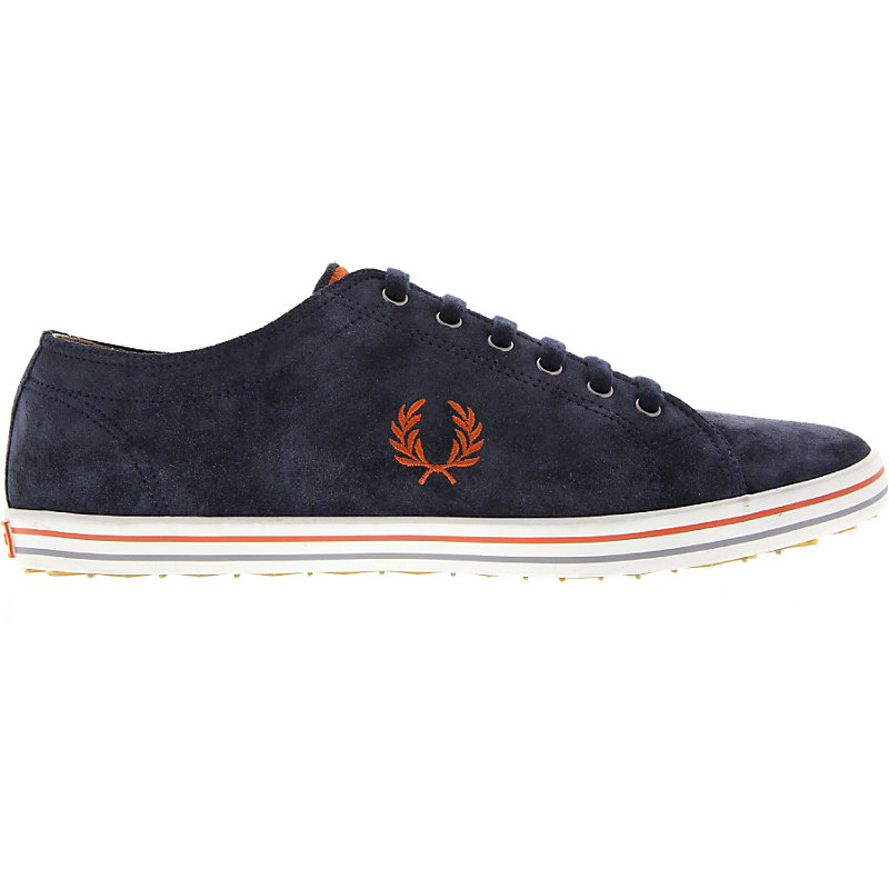 NEU-Fred-Perry-Kingston-Suede-Herrenschuhe-Sneaker-Blau