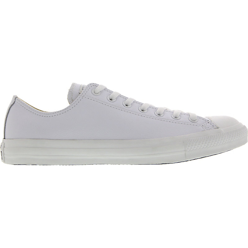 NEU-Converse-Chuck-Taylor-All-Star-Basic-Leather-Herren-Damen-Sneaker-Weiss