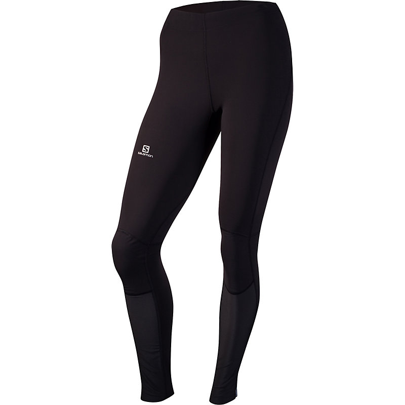 NEU-Salomon-Momemtum-Warm-Tight-Damen-Jogginghose-Schwarz