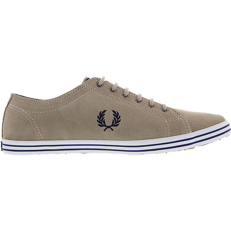 NEU-Fred-Perry-Kingston-Suede-Herrenschuhe-Sneaker-Braun