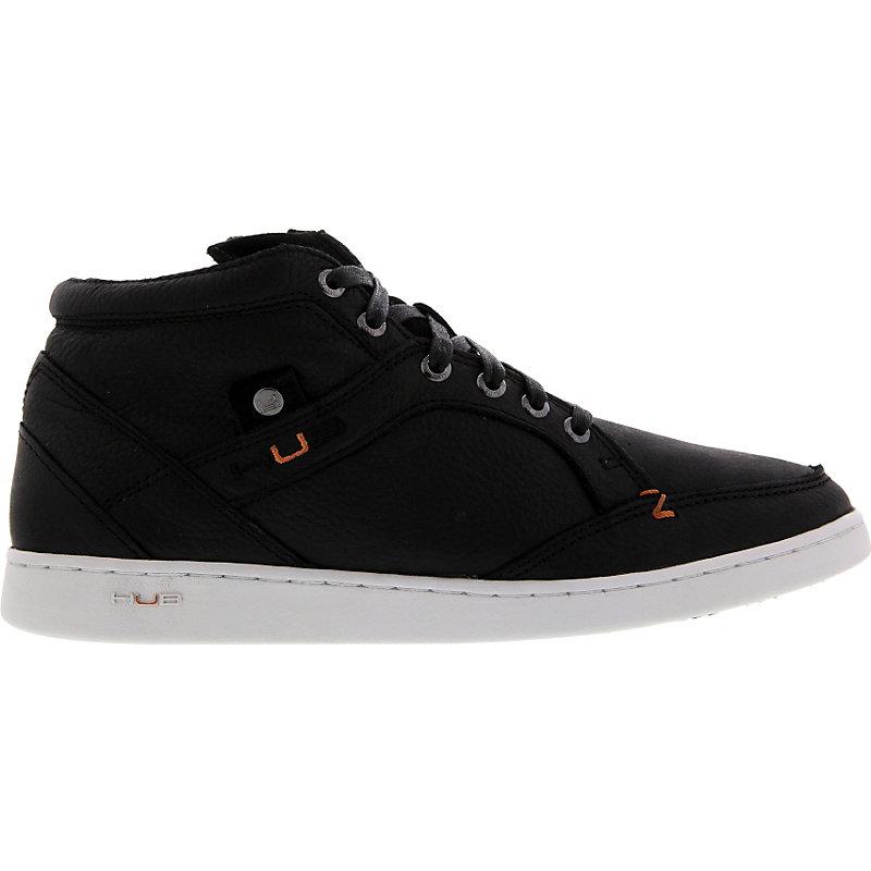 NEU-Hub-Firm-Leather-Herrenschuhe-Sneaker-Schwarz