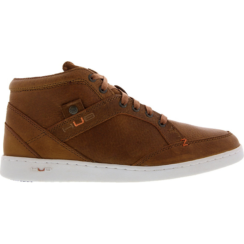 NEU-Hub-Firm-Leather-Herrenschuhe-Sneaker-Braun