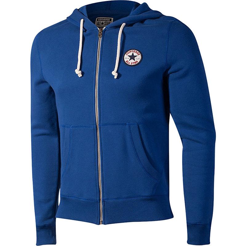 neu converse of core c patch fz hoodie herren pullover mit rei verschluss blau ebay. Black Bedroom Furniture Sets. Home Design Ideas