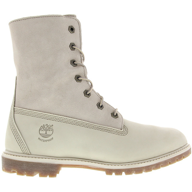 NEU-Timberland-Authentics-Teddy-Fleece-WP-Fold-Down-Damen-Winterschuhe-Weiss