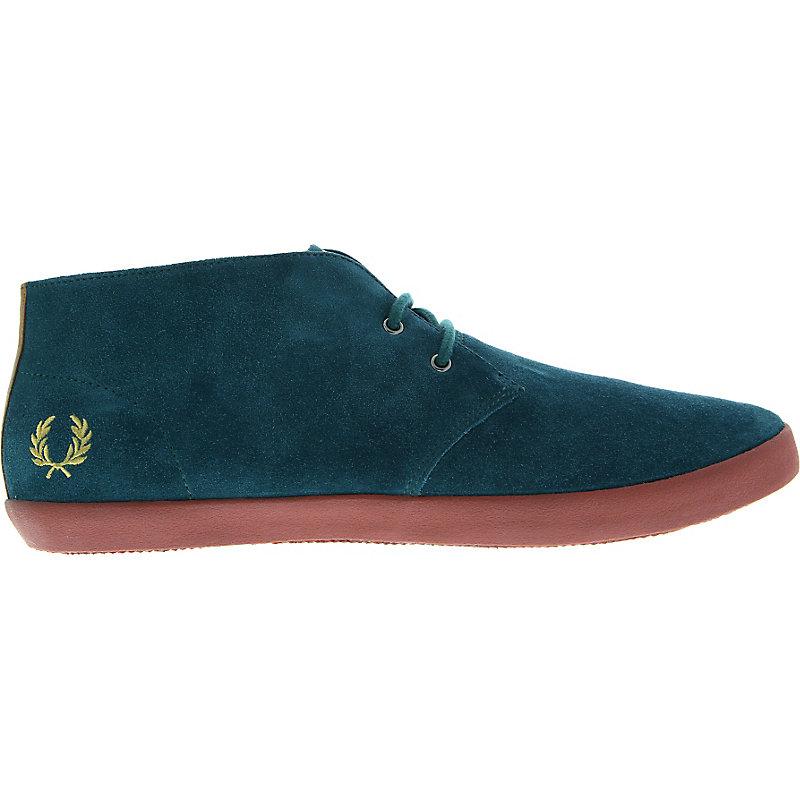 NEU-Fred-Perry-Byron-Mid-Suede-Herrenschuhe-Sneaker-Blau