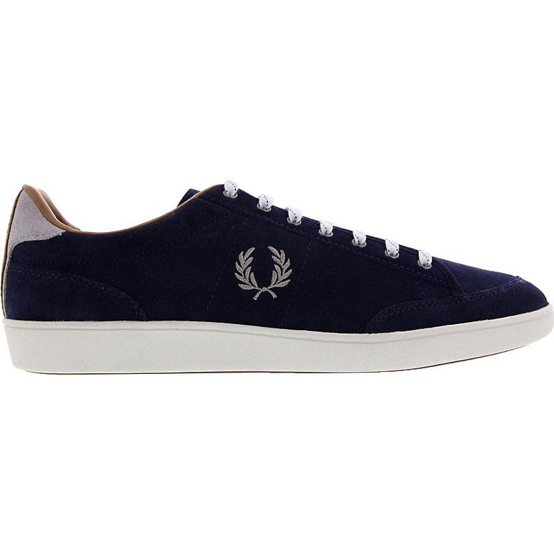 NEU-Fred-Perry-Hopman-Suede-Herrenschuhe-Sneaker-Blau