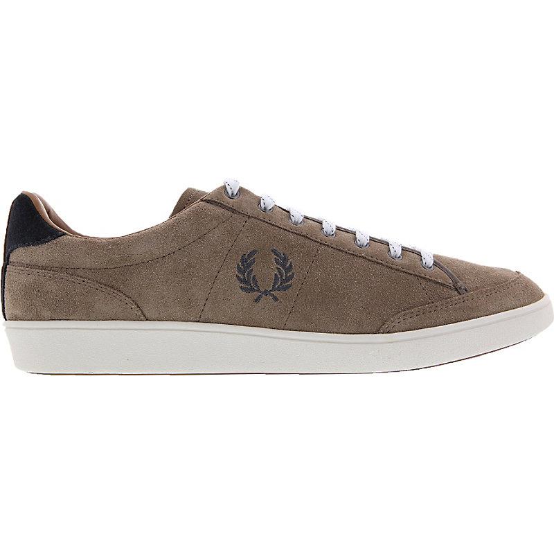 NEU-Fred-Perry-Hopman-Suede-Herrenschuhe-Sneaker-Beige