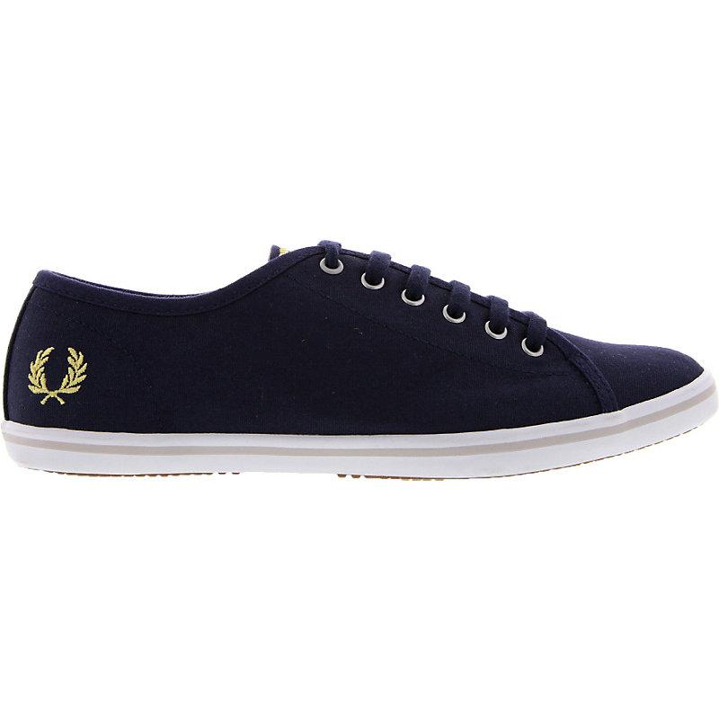 NEU-Fred-Perry-Phoenix-Canvas-Damenschuhe-Sneaker-Blau