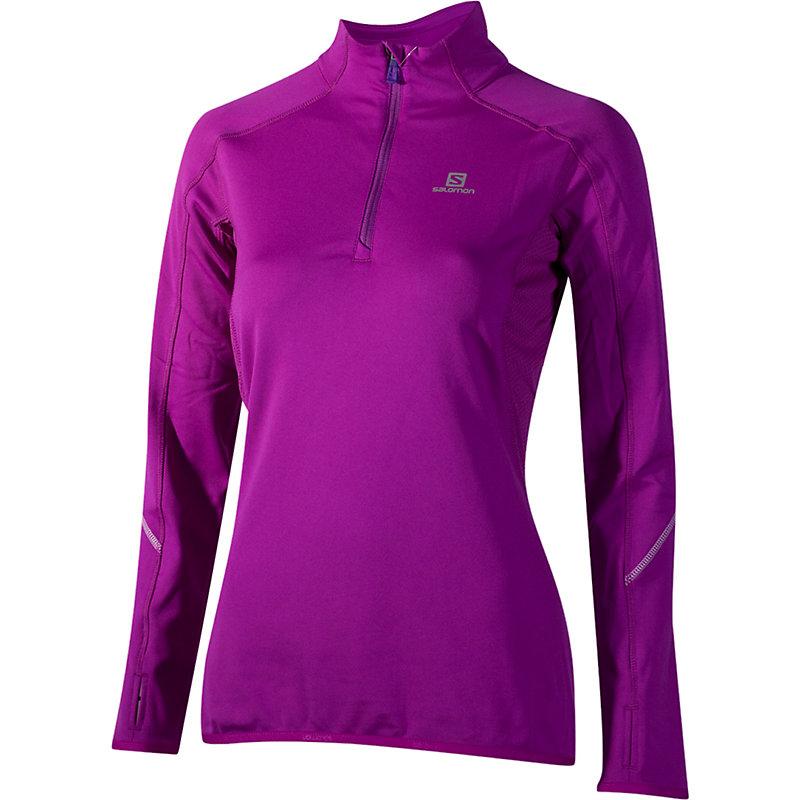 NEU-Salomon-Joly-Midlayer-Damen-Joggingshirt-Lila