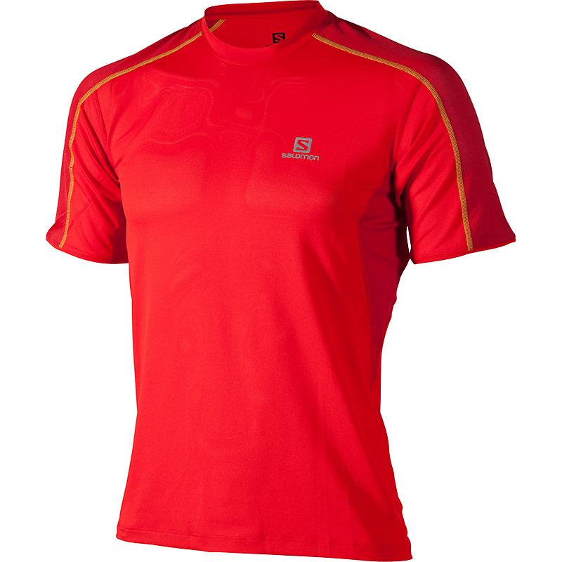 NEU-Salomon-Trail-Runner-Tee-Herren-Joggingshirt-Rot
