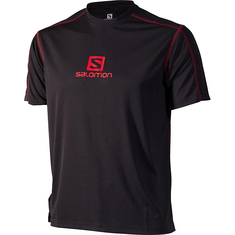 NEU-Salomon-Stroll-Logo-Tee-Herren-Joggingshirt-Schwarz