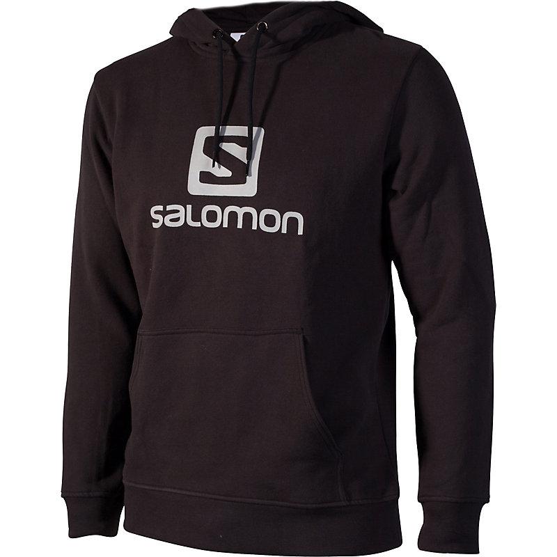 NEU-Salomon-Logo-FZ-Hoody-Herren-Freizeitshirt-Schwarz